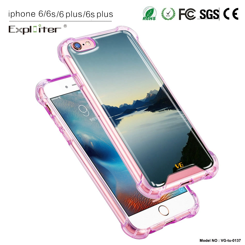 Free sample latest design air cushion clear crystal tpu smart phone cover for apple iPhone6 cover