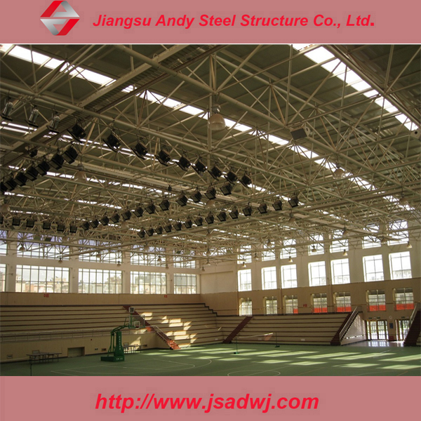 Steel space frame ball connected stadium roofing structure