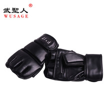 Wrist Wrap Heavy Bag Gloves, Combat Boxing Mitts, Boxing Mad Boxing Leather Bag Mitt