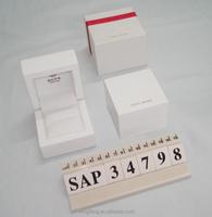Exquisite White Wooden Ring Box, Luxury Jewelry/Diamond Packaging
