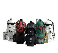 OEM soft pvc usb 2.0 flash driver, antivirus usb flash drive, usb starwars pen drive