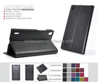 universal smart phone wallet style leather case for huawei ascend P7