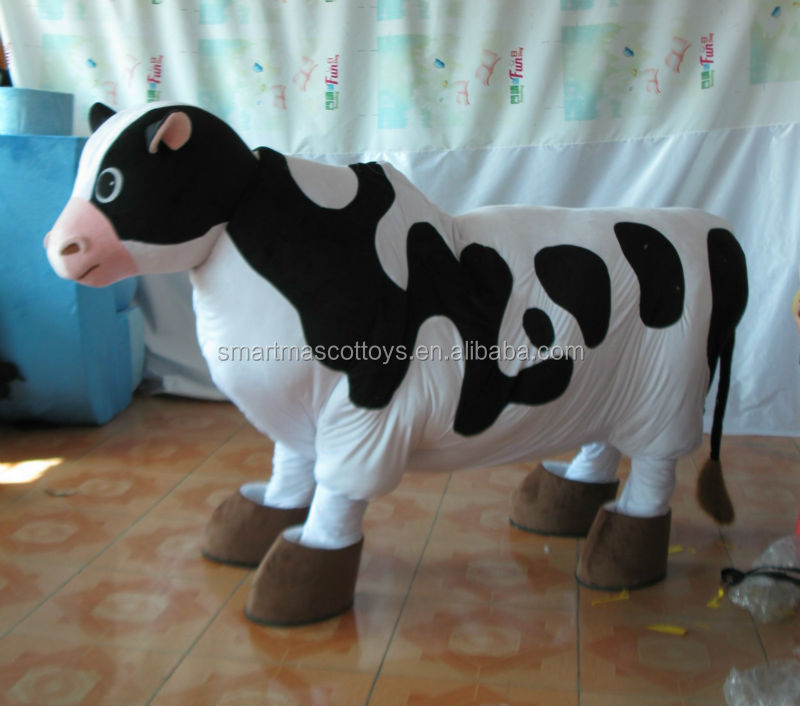 Wholesale cow/camel/horse/zebra 2 person costumes 2 person mascot costume for adults