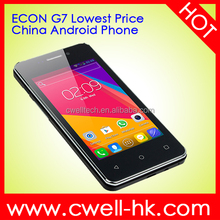 ECON G7 Dual SIM 4 inch china OEM smartphone with Low Price wifi and bluetooth