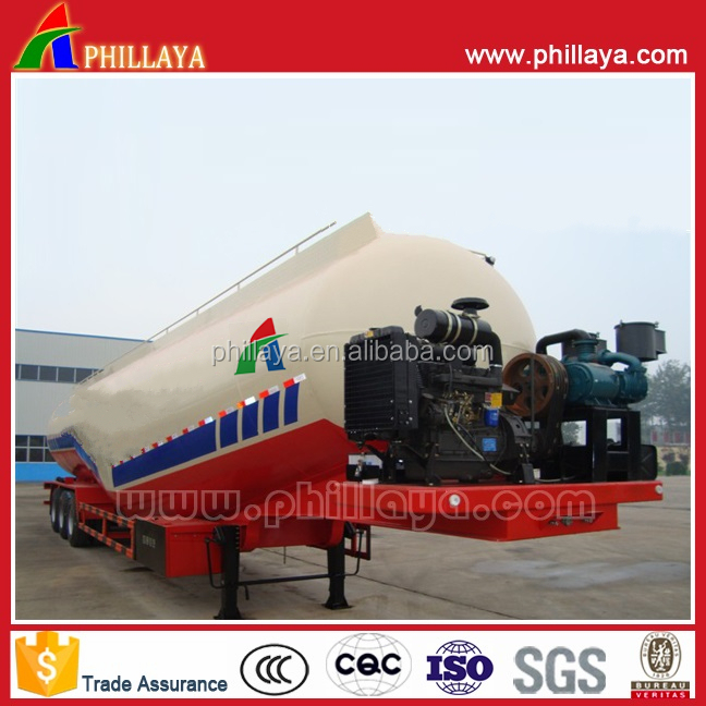 Tri axle bulk cement tank semi trailer,three axle type,volume optional