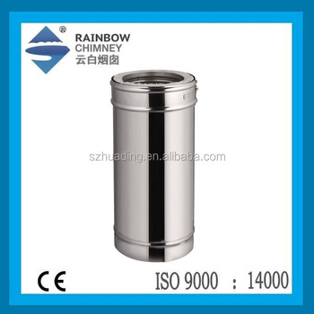 CE double wall spigot chimney stainless steel flue pipe for fireplace and stove chimney
