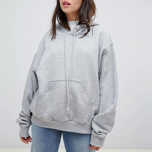 Wholesale Womens Oversize Pullover Cotton Fleece Hoodies