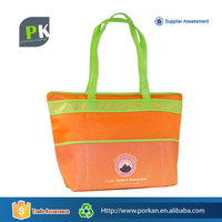 China Online Shopping Nonwoven Orange Colored Tote Bag