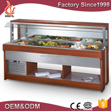 High quality fan cooling static stainless steel salad bar