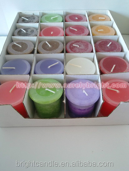 display box of Votive Candles