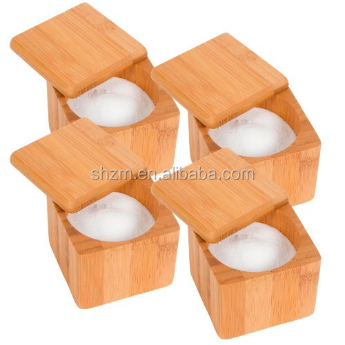 Kitchen Accessory Bamboo Salt Box For Storage Drying Goods