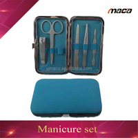 MS1627 professional tweezer manicure pedicure set with nail clipper