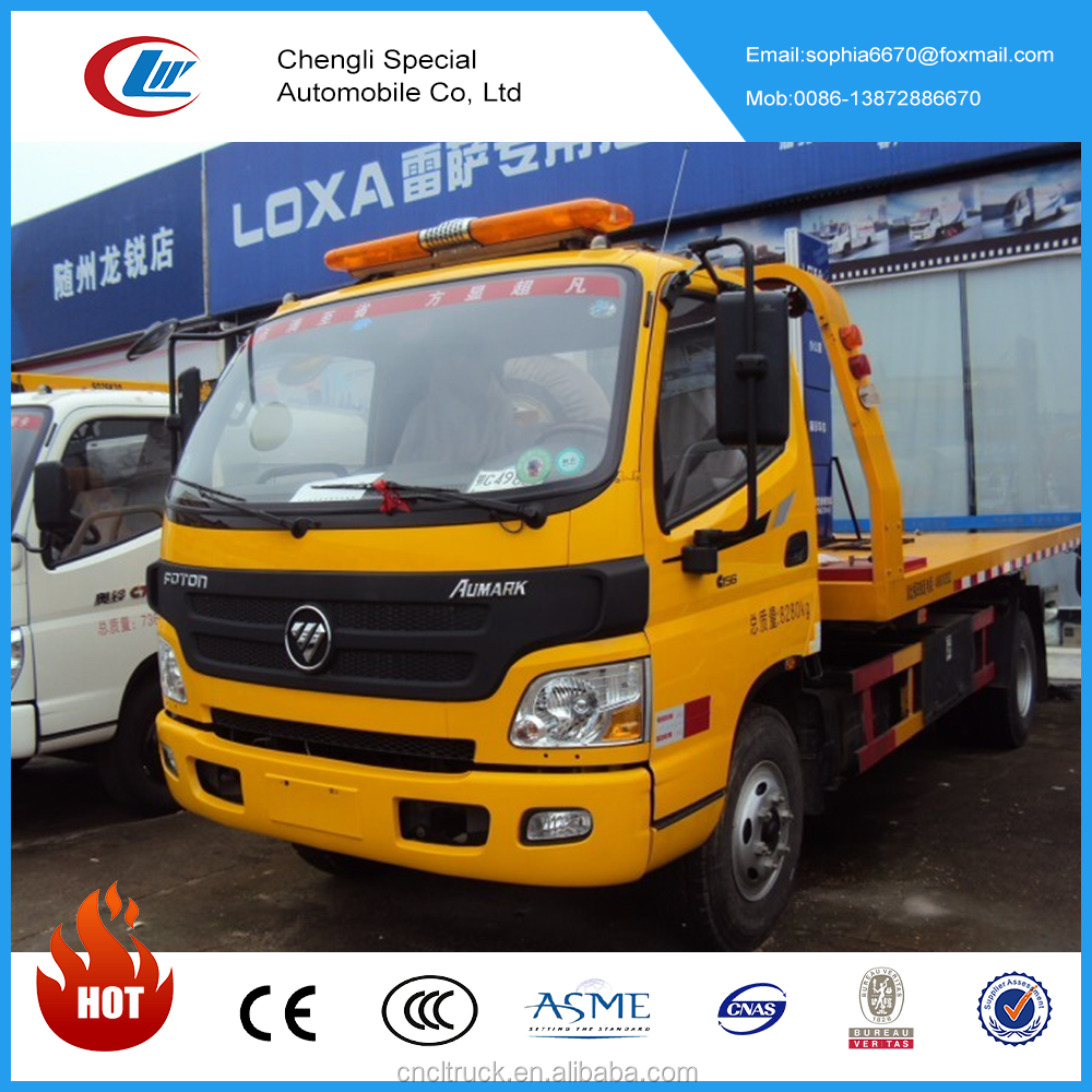 Chengli Wrecked Rollback Truck 3-8 tons Platform Tow Trucks For Sale