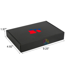 black customized matte ribbon cardboard suit box