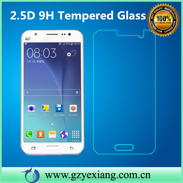 stock promotion sale perfect fit tempered glass screen protector for samsung j7