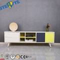 Modern Tv Unit Cabinet Stand Sideboard 2 Drawers Television Stand With Wood Legs