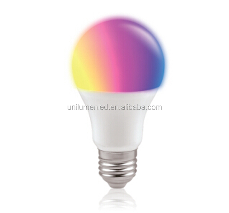 RGB led light e27 6500k dimmable led bulb 9w decorative 16Color light bulb