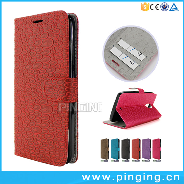 Popular New Products Magnetic PU Leather Flip Wallet Case For BLU Studio XL2