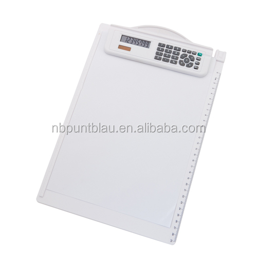 Clipboard with calculator ,plastic clipboard with cover ,clip board