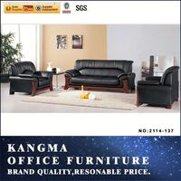 cheap price PU leather office sofa