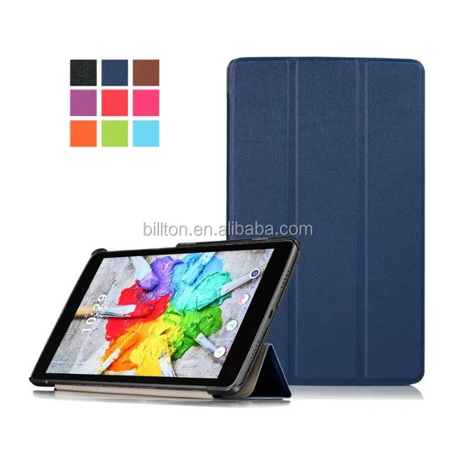 factory three fold share hand strap flip leather cover case for LG G PAD 3 8.0 V525 for LG G PAD X 8.0 V521WG