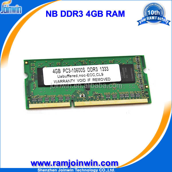 Accept paypal escrow Lifetime warranty ram portable ddr3 4gb for laptop