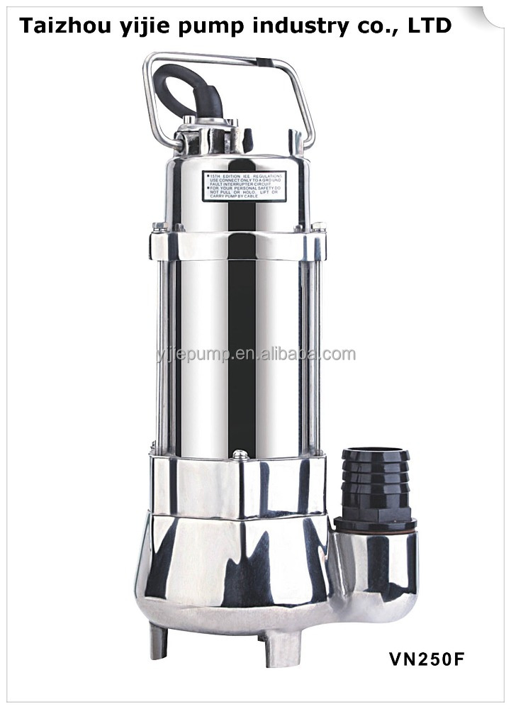 VN250/VN550/VN750/VN1500/VN2200100% copper Stainless steel Submersible Sewage Pump