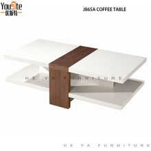 wood furniture high gloss MDF Double layer coffee table