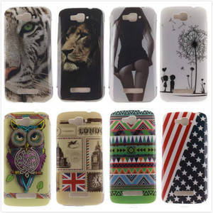 Ultra-thin Printed TPU Soft Back Cover Silicone Phone Protective Cases For Alcatel One Touch Pop C7 OT 7040 7040D OT7040 7041D