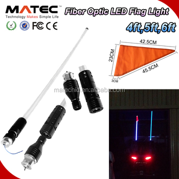 HOT SALES 4ft 5ft 6ft Trucks, Cars, outdoors, LED Antenna Jeeps Fiber Optic Light