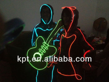 KPT Super bright Dance Costume,clothing,apparel EL WIRE in stage,night bar festival light decoration