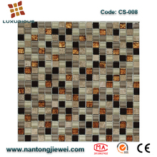 House exterior walls tile crystal mix natural stone gold leaf glass mosaic tile
