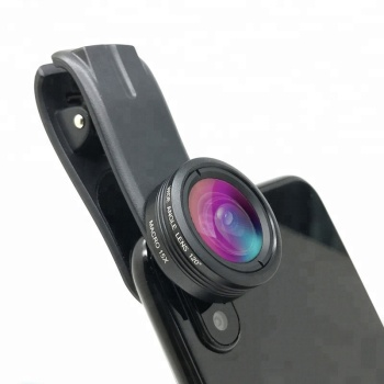 2018 Amazon Hot Selling Mobile Phone Camera Lens 0.36X Wide 15X Macro 2in1 Lens Kit for iPhone X Samsung S8
