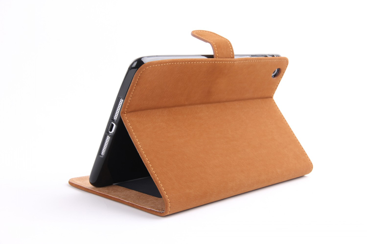 Luxury Squirrel Texture Leather Case For iPad Mini 2 Flip Wallet Stand Case With Card Slots