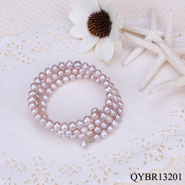 natural pink freshwater pearl bracelets charms