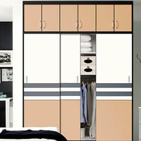 Modern Wooden Sliding Wardrobe Latest Bedroom
