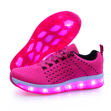 7 colorful led scarpe leggere, scarpe per adulti per la corsa, volare casual led light up shoes