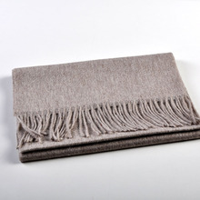 Soft Thick solid color pure cashmere scarf for winter