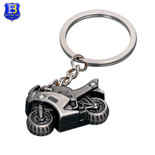 High Quality Promotional Gift Custom logo 3D Motorcycle Metal Keychain