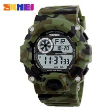 skmei 1019 brand new military Camouflage g style watch luminous digital led clock 50m dive waterproof shock watches men relojes