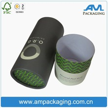 makeup set hat style cylinder paper gift box for cosmetic packaging