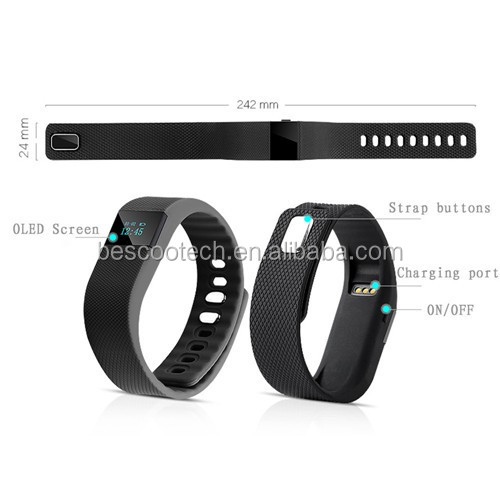 Cheapest Fitness Activity Tracker Bluetooth 4.0 smart watch Sport Bracelet Smart Band Wristband Pedometer For IOS Android TW64