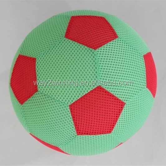 PVC Inflatable Ball Game With Mesh Cloth Cover Air Beach Ball Outdoor Toy Inflatable Ball