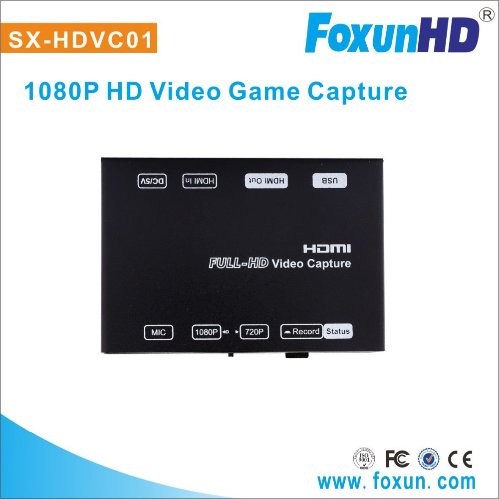Shunxun new PC Game video capture 1080p H.264 Pro Recorder USB2.0 support