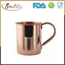 Customized laser engraved moscow mule mug 100% copper with handle