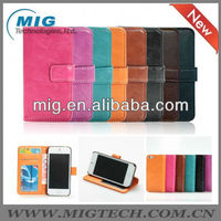 2013 new product hot selling wallet leather case for iphone 5 5S, for iphone 5S case China manfacturer