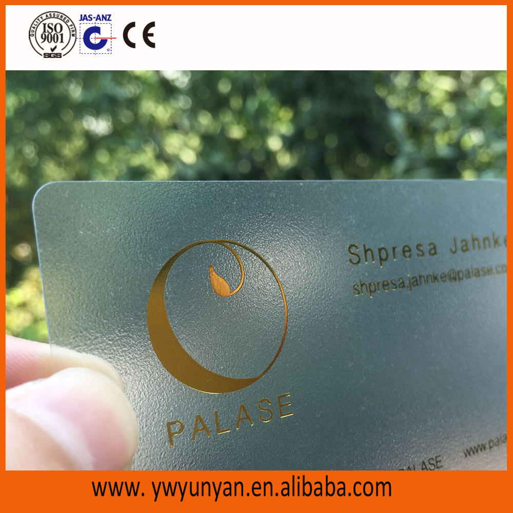 Plastic PVC luxurious business visiting card