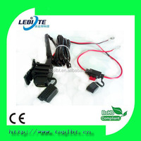 12V Motorcycle USB Charger Cable For iPad Phone Power System