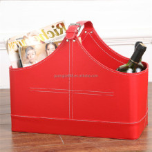 Fashion leather basket ,basket wine bottle carriers,storage basket