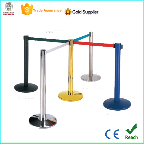 Aroad Factoty Metal Base Stainless Steel Barrier Stand ,Stanchion Pole